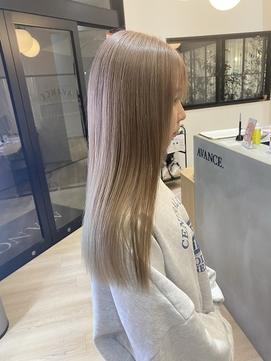 ミルクティーベージュ×ブランジュ×艶髪×髪質改善×韓国風