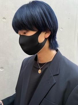 韓国風パーママッシュネオウルフ_ブルーブラック