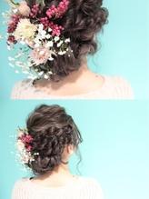 きゅっとまとめ髪とお花 まとめ髪.60