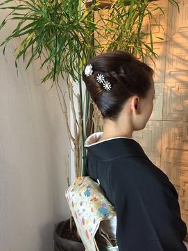 黒留袖スタイル 三つ編みシニオン2本入り