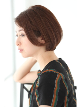 【lien.自由が丘】30代40代50代の大人女性ひし形ショートボブ