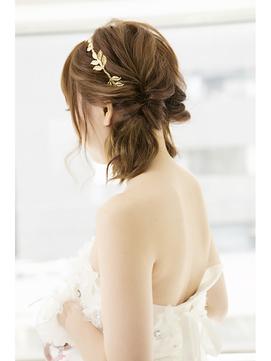 花嫁 ツインテール 大人かわいい 結婚式 パーティー ドレス