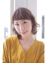【adept綾瀬】斜めバングでゆるふわパーマ.23