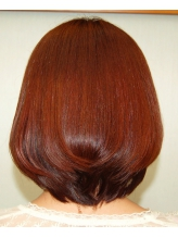 自然な丸み。前髪もペタンとならない!【ヘア&メイク ムーン】の縮毛矯正は仕上がりが違う!