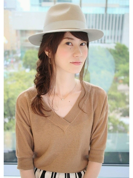 帽子にピッタリ☆フィッシュボーンアレンジ
