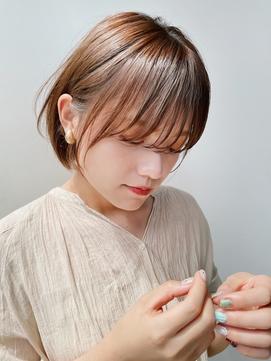 【GARDEN西川】小顔前髪・マッシュショートボブラベンダーカラー