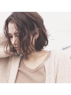 【Virgo吉祥寺】リラックスウェーブボブ × モカベージュ