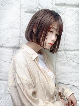 【東 純平】シンプルが可愛い☆小顔グレージュボブ