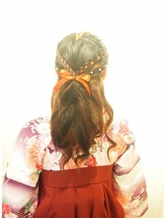 【neolive kuta町田店】卒業式 袴着付け ハーフアップ ハーフアップ.29