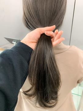 nude仲井【ブリーチなし】ミントアッシュグレー【透け感カラー】