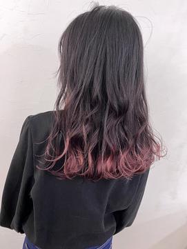 [URA菅野恭平]裾カラーピンク ポイントカラー