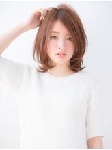 小顔斜めバング&厚めバングのマーメイドアッシュハニーヘア うるツヤ.39