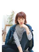 【liberate】ラフな抜け感が可愛い♪セミウェットフェミニンボブ 前髪パーマ.37