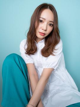 安室奈美恵さん風セミロング[tempo hair 前谷]