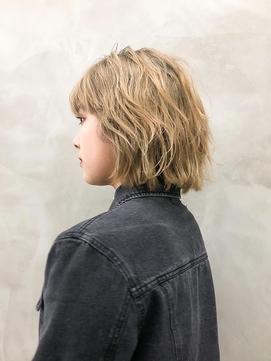 ※【ACA】外ハネミックスカールミディアムヘア