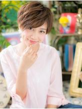 *COVER HAIR*大人かわいい☆斜めバングの前下がりショートa 好感度.45
