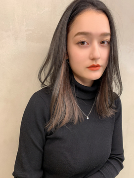【Blanc/難波】インナーカラー_イヤリングカラー_抜け感