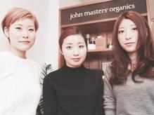[mieno×john masters] Stylist全員『ヘアケアマイスター』取得済の本格派。髪質に合わせた提案力は本物!