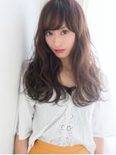 フェザーロング×厚めバング☆女度格上げクラシカルウェーブ.0