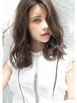 チョビー銀座高柳/グレージュ/デジタルパーマ/ゆるふわ/透明感