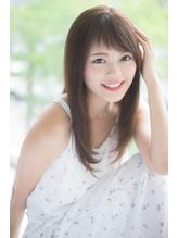 個性的 眉上 斜めバングXモーブカラー【Aman hair 吉祥寺】 .21