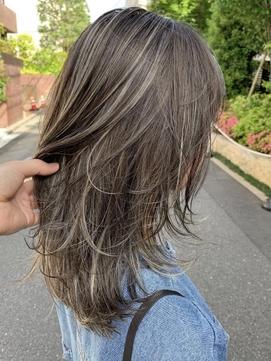 #白髪をぼかすハイライト#細ーいハイライト#白髪染め#くびれヘア