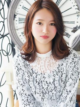 【ヘアジュレドゥ 花井】 美Natural 可愛い女子セミディ