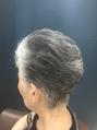 40代50代60代グレイヘア/白髪活かす似合わせショート仙台D