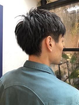 刈り上げスタイル/黒髪/ビジネスショート【knit銀座】