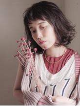 抜け感パーマのおしゃれボブ.1