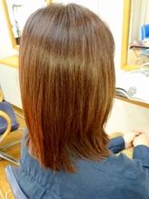 【リタッチクーポン多数★】トリートメント配合のカラー剤を使用しているのでツヤサラ!美髪で好印象に…♪