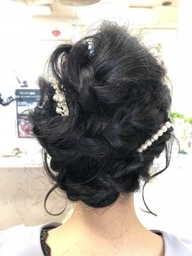 艶髪オーバーシェイプ編み込みアップスタイル!