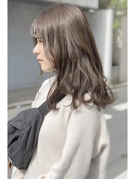 ☆透明感カラー×ブリーチなしミルクティーベージュ☆navile大河
