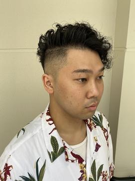 強めパーマでフェードスタイル【ヒロ銀座】神田/バーバー/パーマ