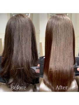 【お客様施術例】カット+カラー+髪質改善(酸熱)トリートメント