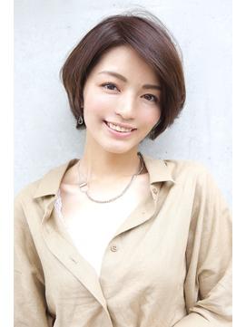 Soleil菊地/大人かわいい丸みショート花嫁厚めバング小顔個性的
