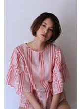 ヌーディベージュ×艶髪ショートbob.44