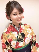成人式 振袖 卒業式 袴 ヘアアレンジ ルーズ ダウンスタイル.12
