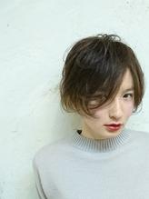 外国人風透明感☆モード系流し前髪フェザーボブ モード系.44