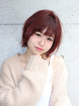 大人かわいい★モテ髪★カシスピンク ショートヘア.55