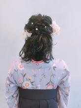 卒業式袴着付けヘアアレンジ パーティ.35
