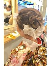 お花の夜会巻きアレンジ☆.22