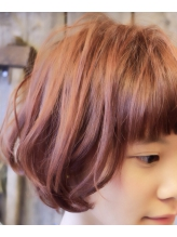 【+~ing】ピンクアッシュ×ゆるふわ前下がりボブ【随原麻由】 ゆるふわ.4