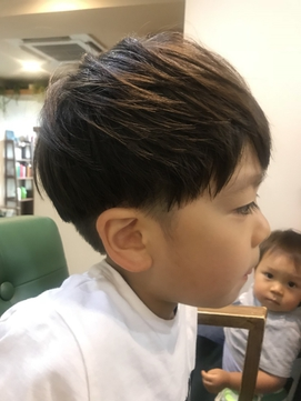 [riganuts 十条]キッズカット☆お洒落ツーブロック