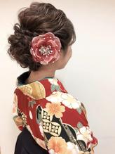 成人式 振袖 卒業式 袴 ヘアアレンジ ルーズ ダウンスタイル 卒業式.9