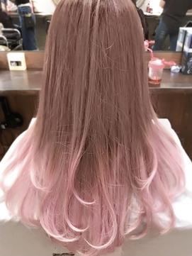 ホワイトピンク グラデーション