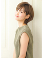【rue京都】大人可愛い小顔ブランジュ丸みショートボブサイド