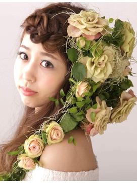 【コトノハ】豪華ローズ編成人式卒業式結婚式着物ヘア振袖袴ヘア