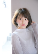 大人かわいい小顔ボブ2018年春おすすめヘア【國武さゆり】 アンニュイ.56