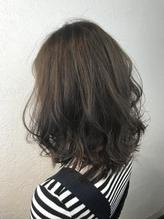 【#ブルーアッシュ】で、透明感のある暗めヘアカラー☆.37